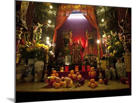 Man Mo Buddhist Temple, Hong Kong, China-Julie Eggers-Mounted Photographic Print