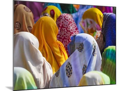 Women in Colorful Saris Gather Together, Jhalawar, Rajasthan, India-Keren Su-Mounted Photographic Print