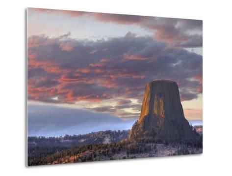 Devils Tower National Monument, Wyoming, USA-Jamie & Judy Wild-Metal Print