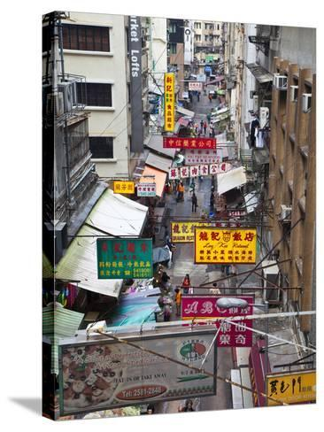 Typical Street, Hong Kong, China-Julie Eggers-Stretched Canvas Print