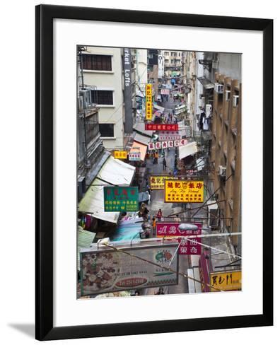 Typical Street, Hong Kong, China-Julie Eggers-Framed Art Print