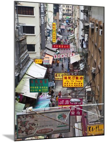 Typical Street, Hong Kong, China-Julie Eggers-Mounted Photographic Print