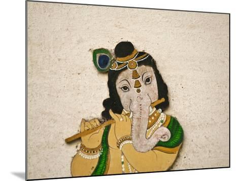 Mural Depicting Ganesha, a Hindu Deity, Inside City Palace, Udaipur, Rajasthan, India-Keren Su-Mounted Photographic Print