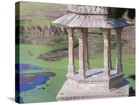 Traditional Architecture by Indhar Lake, Udaipur, Rajasthan, India-Keren Su-Stretched Canvas Print