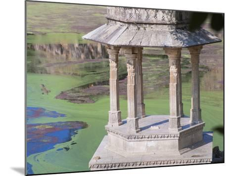 Traditional Architecture by Indhar Lake, Udaipur, Rajasthan, India-Keren Su-Mounted Photographic Print