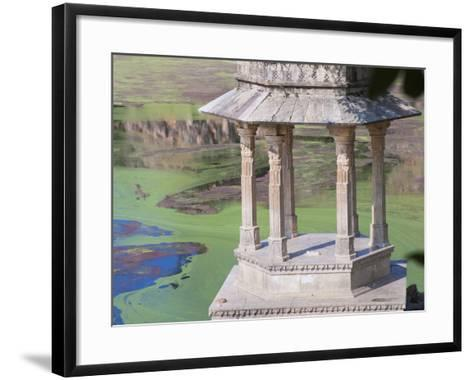 Traditional Architecture by Indhar Lake, Udaipur, Rajasthan, India-Keren Su-Framed Art Print