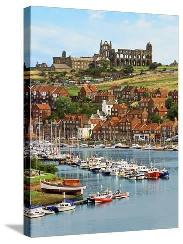 Ruins of Whitby Abbey Above Whitby on North Yorkshire Coast in Northern England, United Kingdom-Miva Stock-Stretched Canvas Print