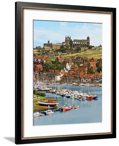 Ruins of Whitby Abbey Above Whitby on North Yorkshire Coast in Northern England, United Kingdom-Miva Stock-Framed Art Print