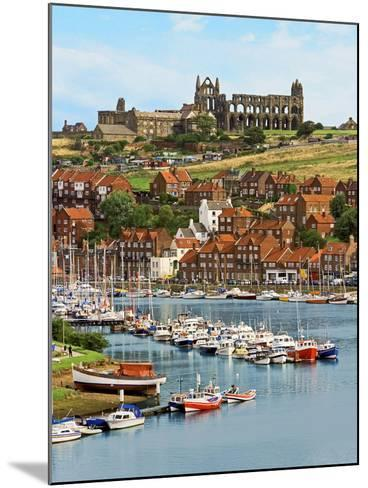 Ruins of Whitby Abbey Above Whitby on North Yorkshire Coast in Northern England, United Kingdom-Miva Stock-Mounted Photographic Print