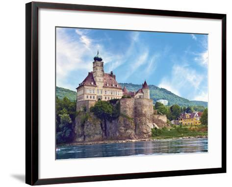 The Stunning Schonbuhel Castle Sits Above the Danube River Along the Wachau Valley of Austria-Miva Stock-Framed Art Print