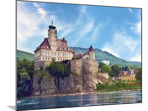 The Stunning Schonbuhel Castle Sits Above the Danube River Along the Wachau Valley of Austria-Miva Stock-Mounted Photographic Print