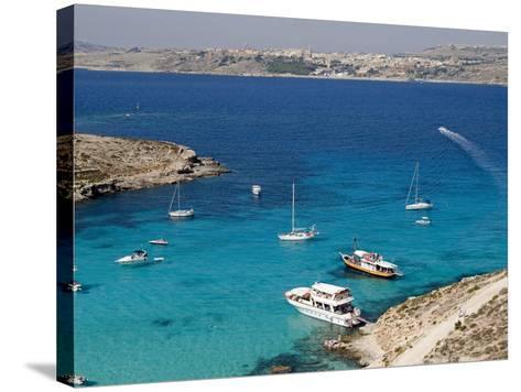 Blue Lagoon, Aerial View, Comino Island, Republic of Malta-Nico Tondini-Stretched Canvas Print