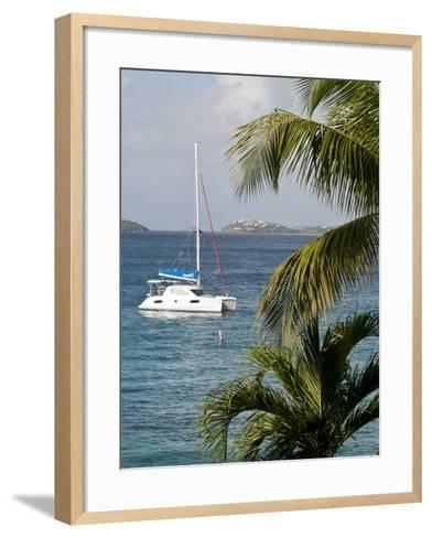 Catamaran, St John, United States Virgin Islands, USA, US Virgin Islands, Caribbean-Trish Drury-Framed Art Print