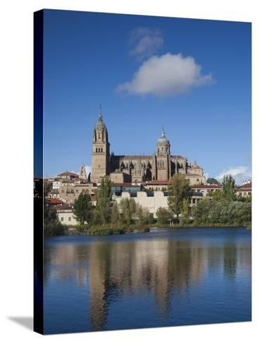 View from the Tormes River, Salamanca, Spain-Walter Bibikow-Stretched Canvas Print