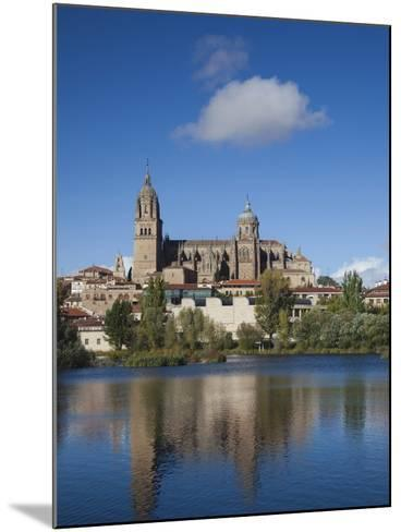 View from the Tormes River, Salamanca, Spain-Walter Bibikow-Mounted Photographic Print