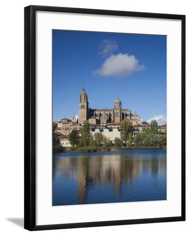 View from the Tormes River, Salamanca, Spain-Walter Bibikow-Framed Art Print