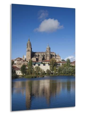 View from the Tormes River, Salamanca, Spain-Walter Bibikow-Metal Print