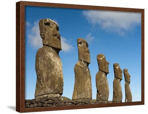 Ahu Akivi, Rapa Nui, Easter Island, Chile-Sergio Pitamitz-Framed Art Print