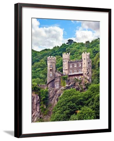 Castle Rheinstein, Rheinland-Pflaz, Germany-Miva Stock-Framed Art Print