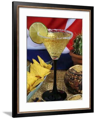 Daiquiri Cocktail and Cuban Flag, Caribbean-Nico Tondini-Framed Art Print