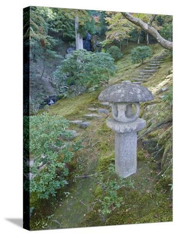 Garden Lantern, Shugakuin Imperial Villa, Kyoto, Japan-Rob Tilley-Stretched Canvas Print