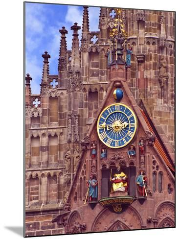 Clock Tower of Church of Our Lady, Nuremberg, Germany-Miva Stock-Mounted Photographic Print