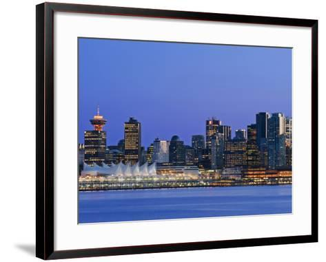Vancouver Skyline, Vancouver, British Columbia, Canada-Rob Tilley-Framed Art Print