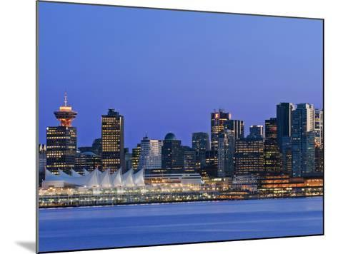 Vancouver Skyline, Vancouver, British Columbia, Canada-Rob Tilley-Mounted Photographic Print