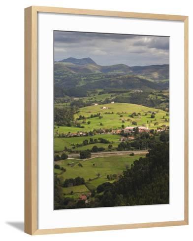 Pena Cabarga Mountain View, Santander, Spain-Walter Bibikow-Framed Art Print