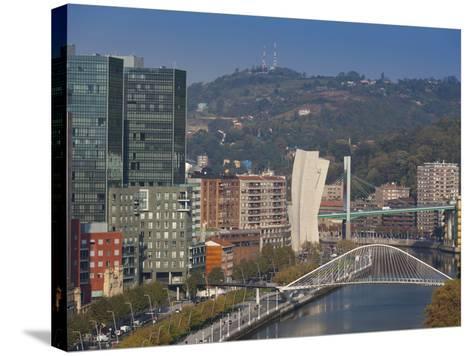 View of Parque Etxebarria Park, Bilbao, Spain-Walter Bibikow-Stretched Canvas Print