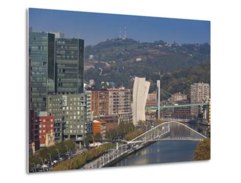 View of Parque Etxebarria Park, Bilbao, Spain-Walter Bibikow-Metal Print