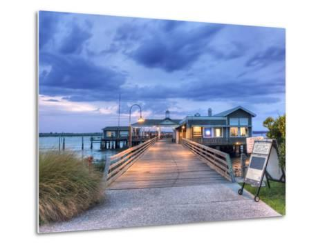 The Jekyll Wharf and Latitude 31 Restaurant, Jekyll Island, Georgia, USA-Rob Tilley-Metal Print