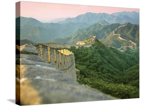 Sunrise over the Mutianyu Section of the Great Wall, Huairou County, China-Miva Stock-Stretched Canvas Print