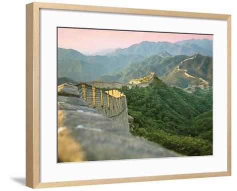 Sunrise over the Mutianyu Section of the Great Wall, Huairou County, China-Miva Stock-Framed Art Print