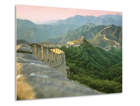 Sunrise over the Mutianyu Section of the Great Wall, Huairou County, China-Miva Stock-Metal Print