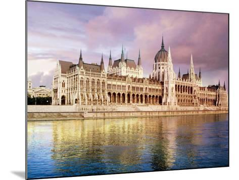 Parliament Building and Danube River, Budapest, Hungary-Miva Stock-Mounted Photographic Print