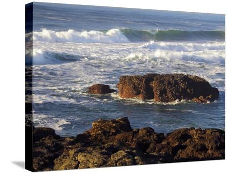 Incoming Tide at Yachats, Yachats, Oregon, USA-Michel Hersen-Stretched Canvas Print