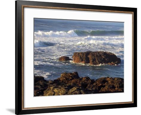 Incoming Tide at Yachats, Yachats, Oregon, USA-Michel Hersen-Framed Art Print