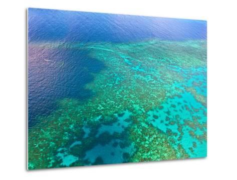 Aerial View of the Great Barrier Reef, Queensland, Australia-Miva Stock-Metal Print