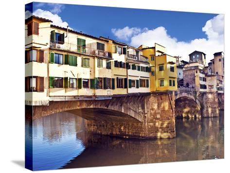 Ponte Vecchio and Arno River, Florence, Tuscany, Italy-Miva Stock-Stretched Canvas Print