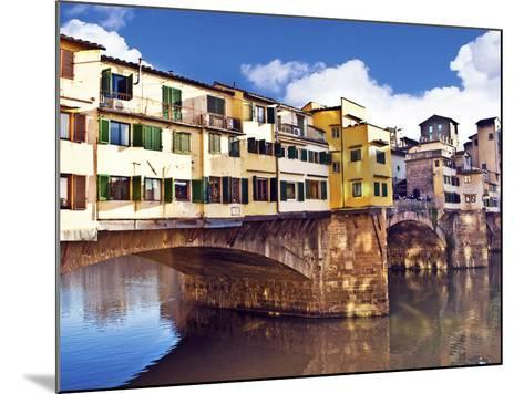 Ponte Vecchio and Arno River, Florence, Tuscany, Italy-Miva Stock-Mounted Photographic Print