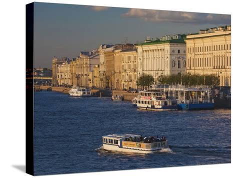 Neva River, Saint Petersburg, Russia-Walter Bibikow-Stretched Canvas Print