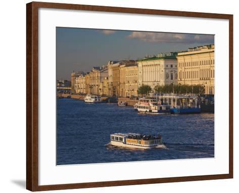 Neva River, Saint Petersburg, Russia-Walter Bibikow-Framed Art Print
