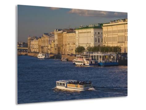 Neva River, Saint Petersburg, Russia-Walter Bibikow-Metal Print
