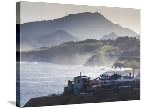 Rio De Bilbao Estuary, Miono, Spain-Walter Bibikow-Stretched Canvas Print
