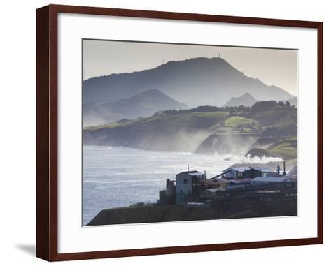 Rio De Bilbao Estuary, Miono, Spain-Walter Bibikow-Framed Art Print