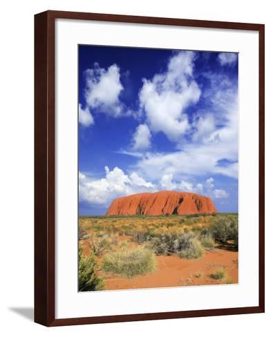 The Holy Mountain of Uluru, Ayers Rock, Uluru-Kata Tjuta National Park, Australia-Miva Stock-Framed Art Print