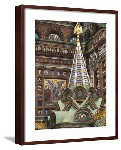 Church of the Saviour of Spilled Blood, Saint Petersburg, Russia-Walter Bibikow-Framed Art Print