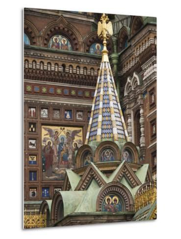 Church of the Saviour of Spilled Blood, Saint Petersburg, Russia-Walter Bibikow-Metal Print