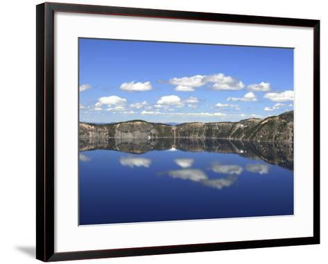 Crater Lake Reflections, Crater Lake National Park, Oregon, USA-Michel Hersen-Framed Art Print